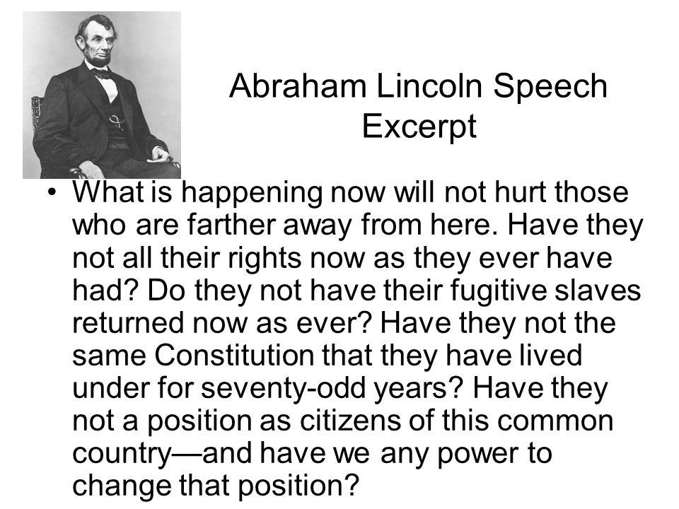 Abraham Lincoln Speech Excerpt