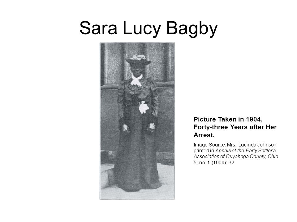 Sara Lucy Bagby Picture Taken in 1904, Forty-three Years after Her Arrest.