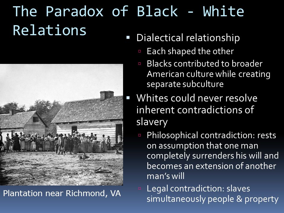 The Paradox of Black - White Relations