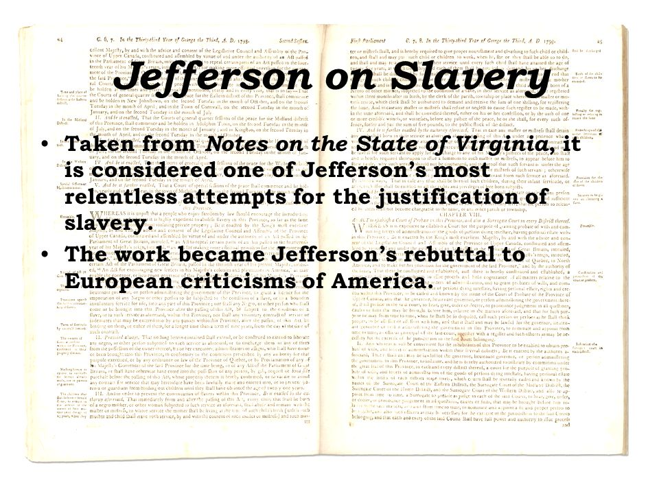 Jefferson on Slavery