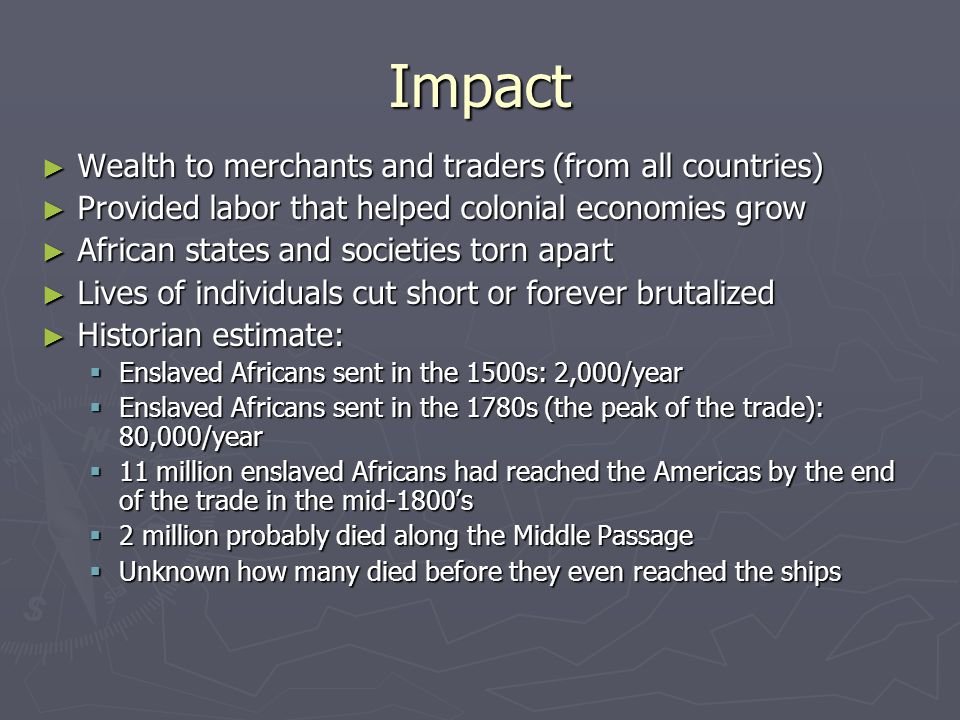 Impact Wealth to merchants and traders (from all countries)