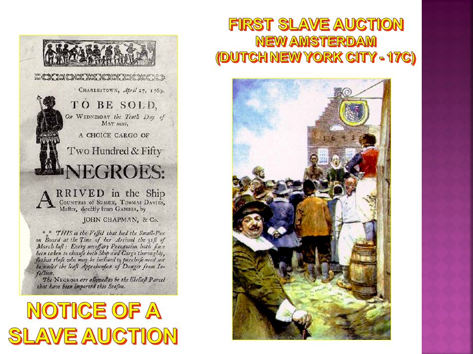 Notice of a Slave Auction