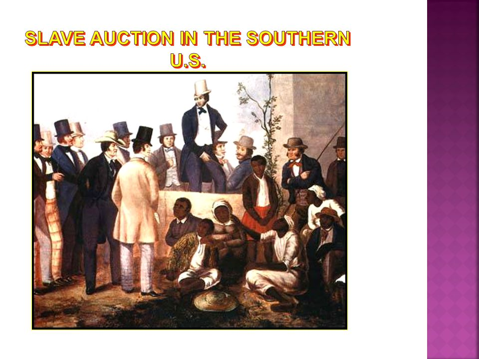 Slave Auction in the Southern U.S.