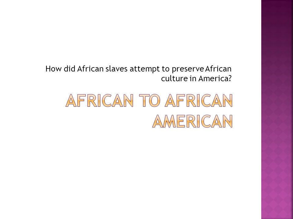 African to African american