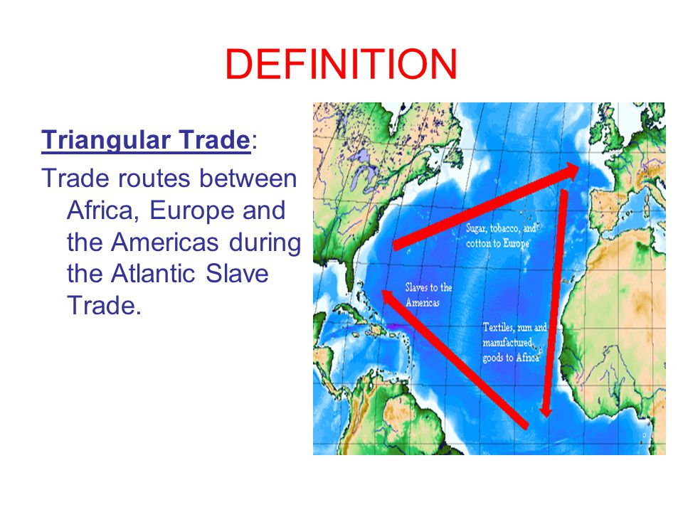 DEFINITION Triangular Trade:
