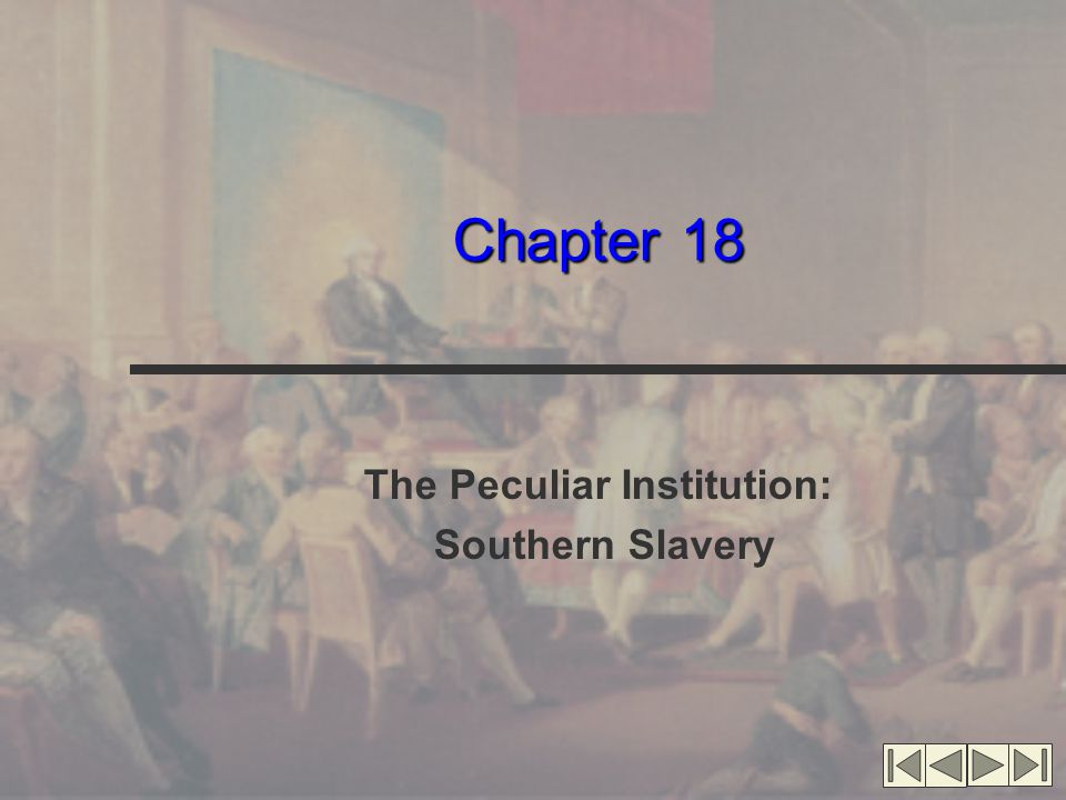 The Peculiar Institution: Southern Slavery
