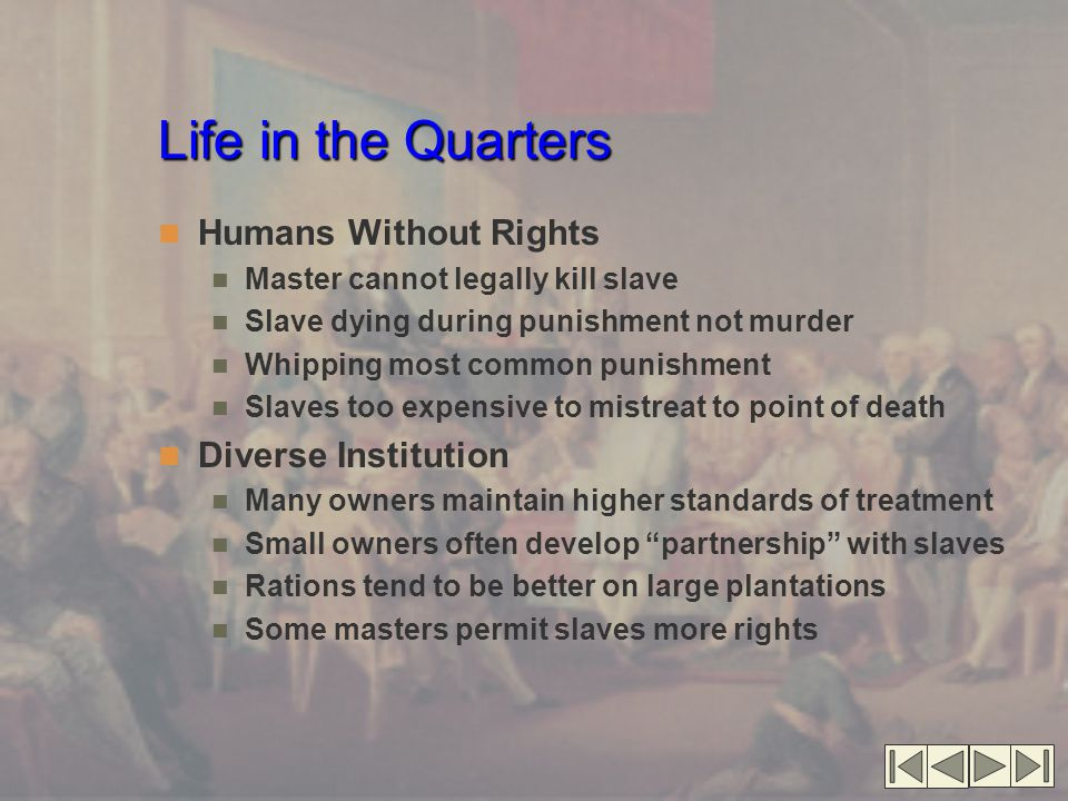 Life in the Quarters Humans Without Rights Diverse Institution