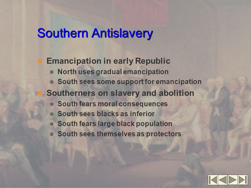 Southern Antislavery Emancipation in early Republic