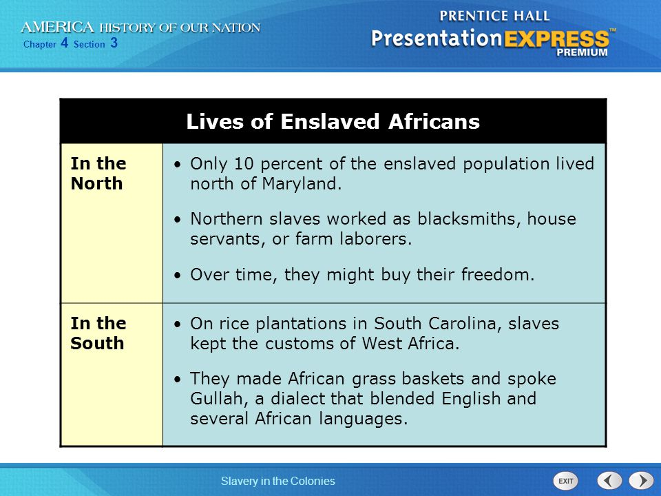 Lives of Enslaved Africans