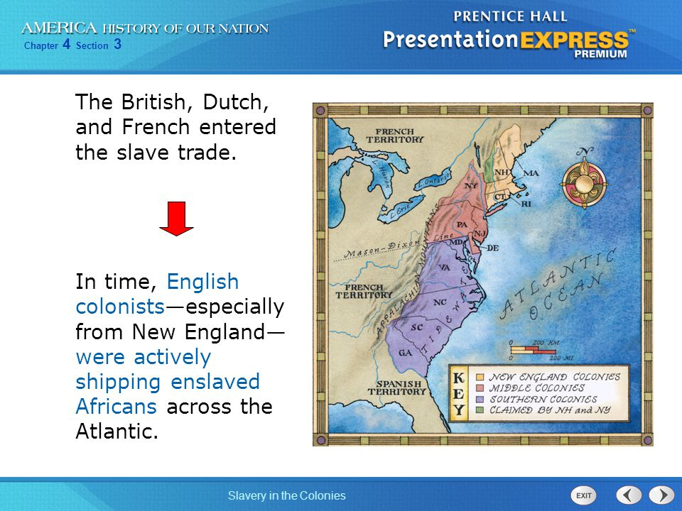 The British, Dutch, and French entered the slave trade.