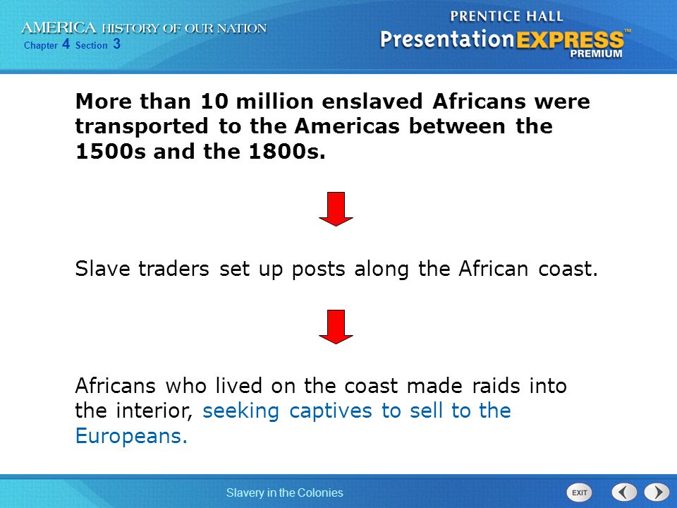 More than 10 million enslaved Africans were transported to the Americas between the 1500s and the 1800s.