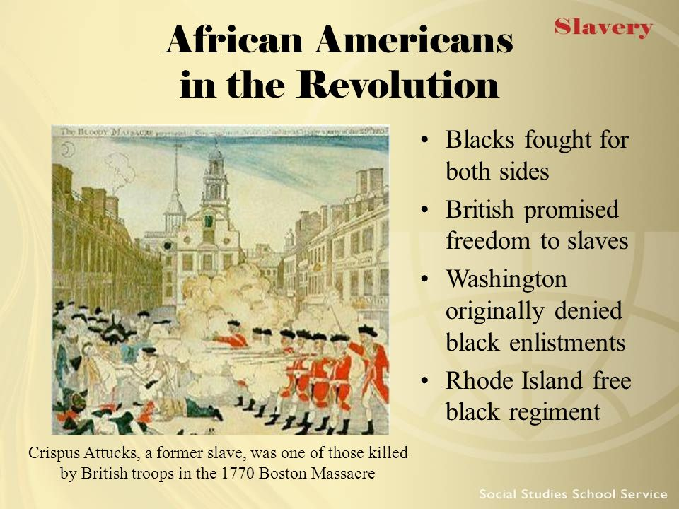 African Americans in the Revolution
