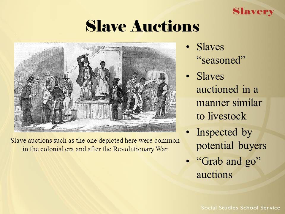 Slave Auctions Slaves seasoned