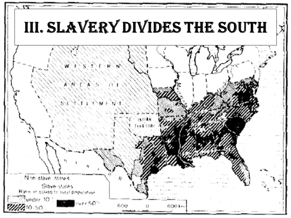 III. Slavery Divides the South