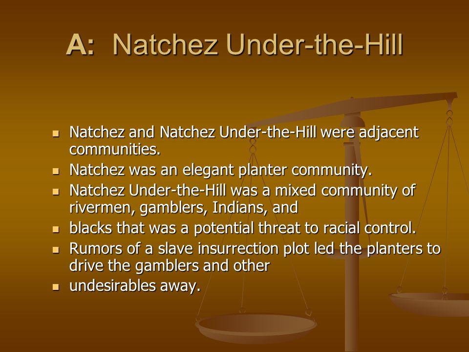 A: Natchez Under-the-Hill