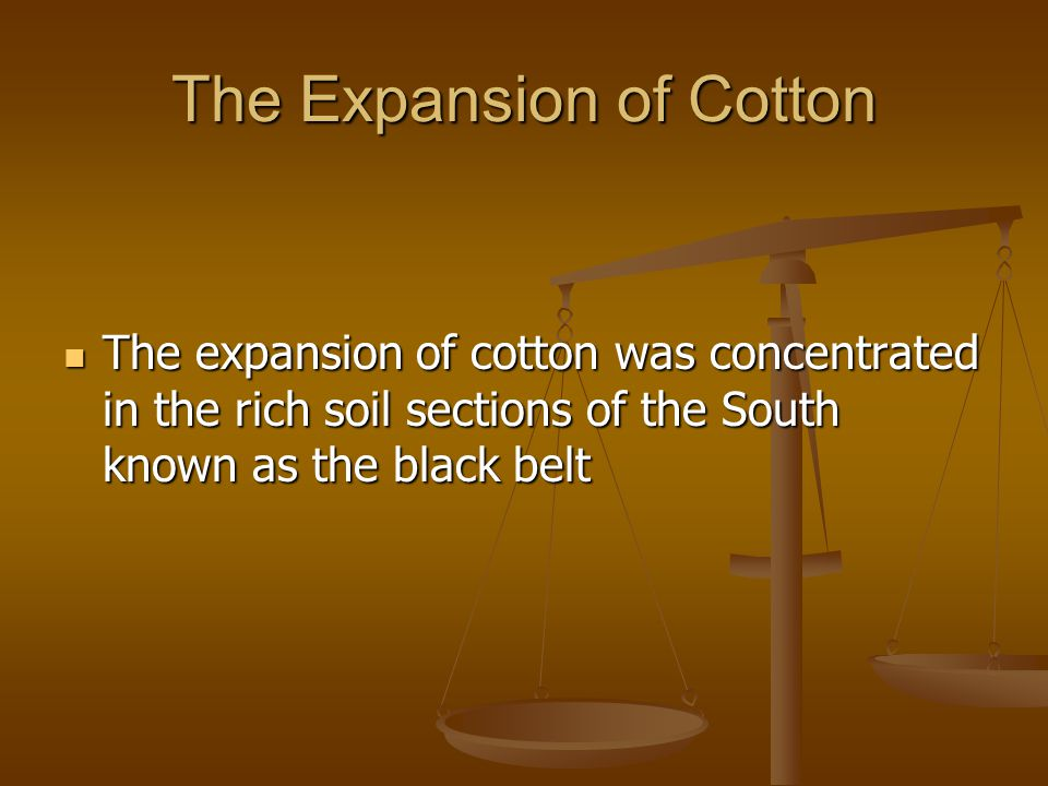 The Expansion of Cotton