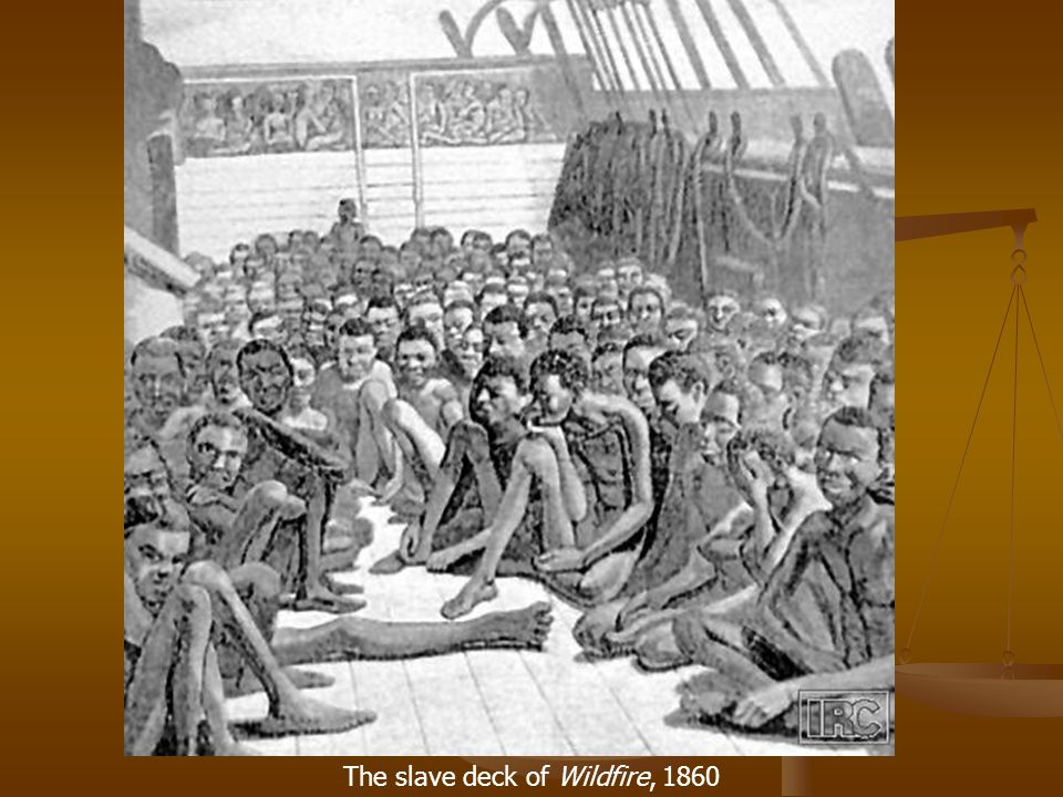 The slave deck of Wildfire, 1860