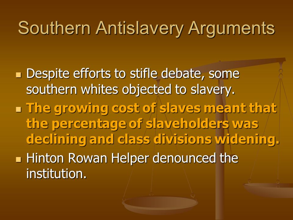 Southern Antislavery Arguments