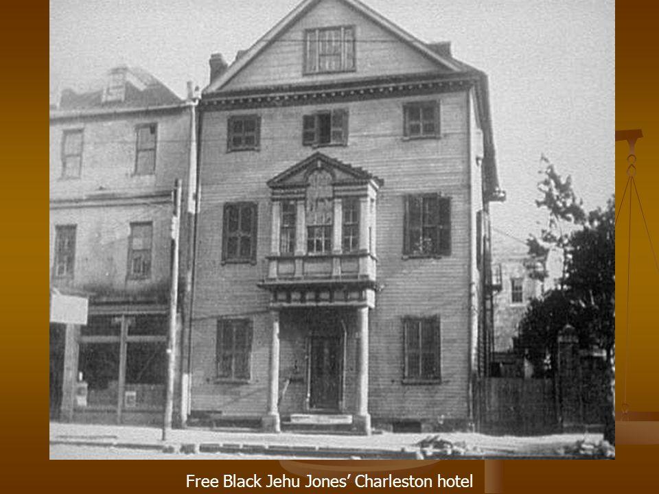 Free Black Jehu Jones' Charleston hotel