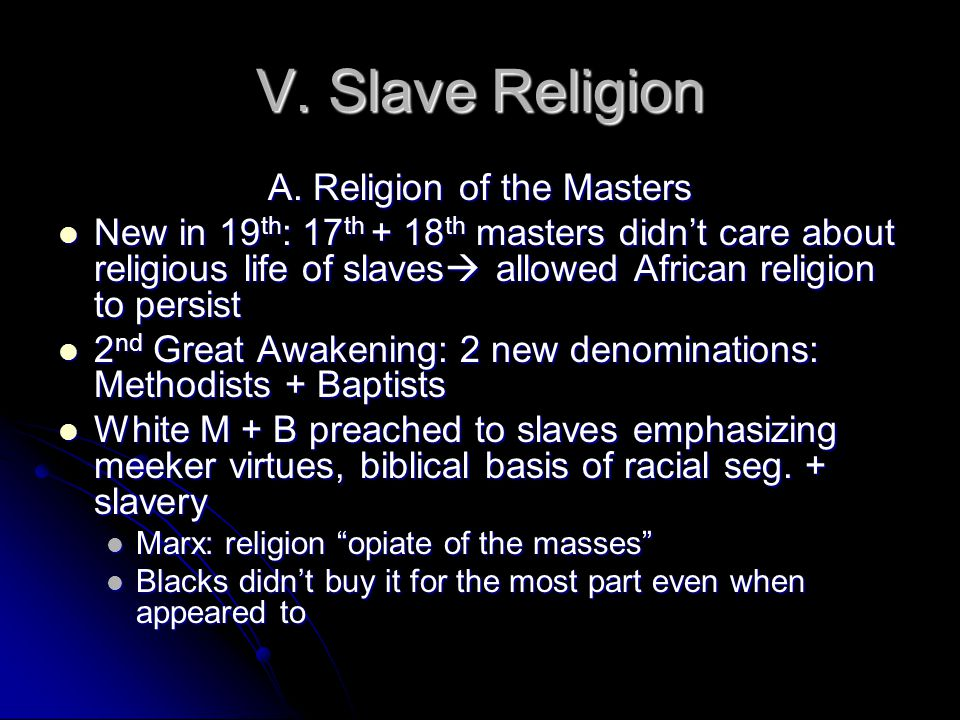 A. Religion of the Masters