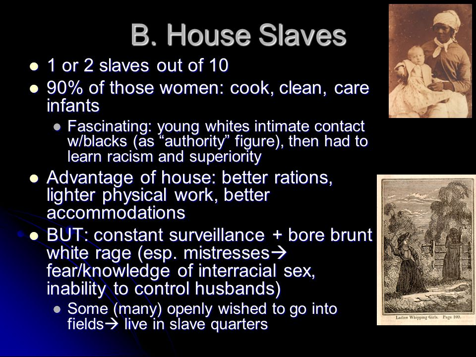 B. House Slaves 1 or 2 slaves out of 10