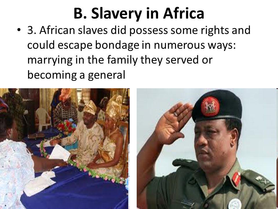 B. Slavery in Africa