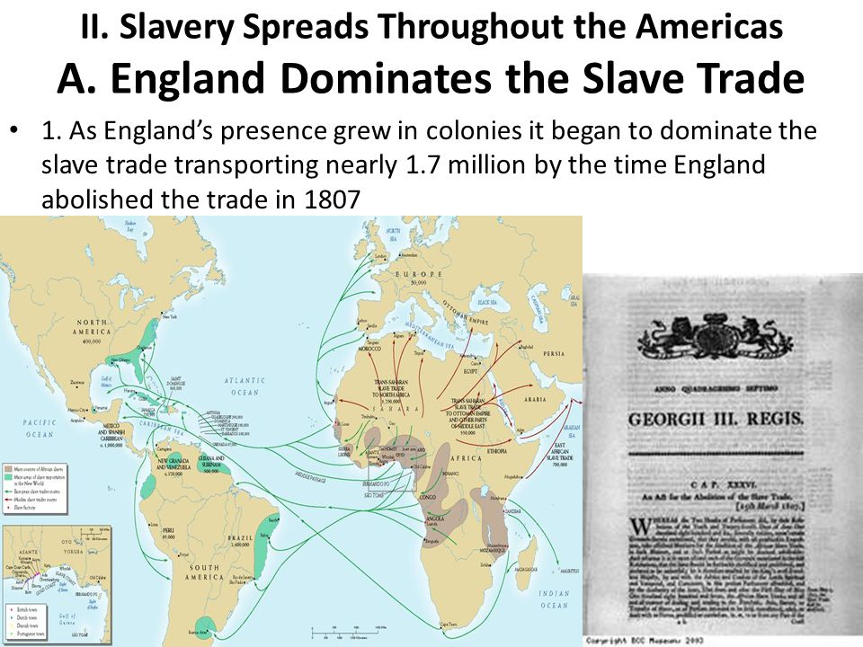 II. Slavery Spreads Throughout the Americas A