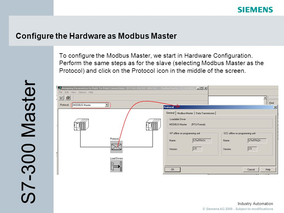Configure the Hardware as Modbus Master