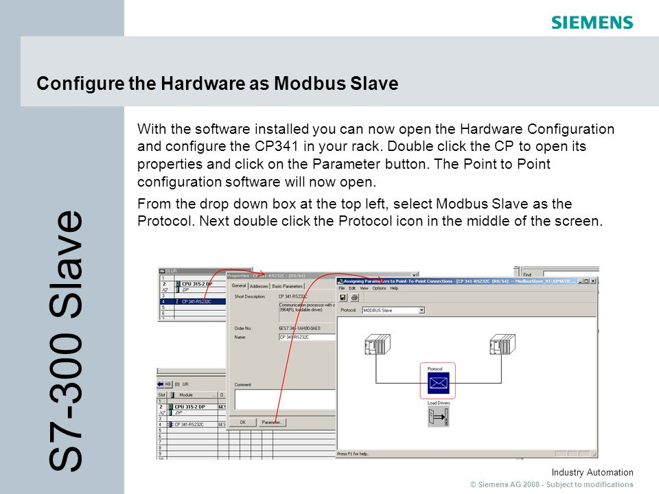 Configure the Hardware as Modbus Slave