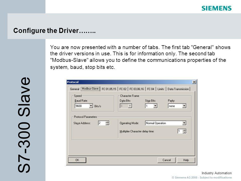Configure the Driver……..
