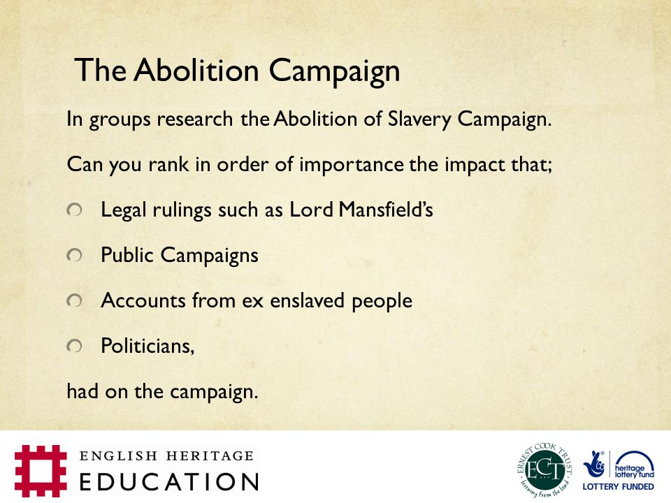 The Abolition Campaign