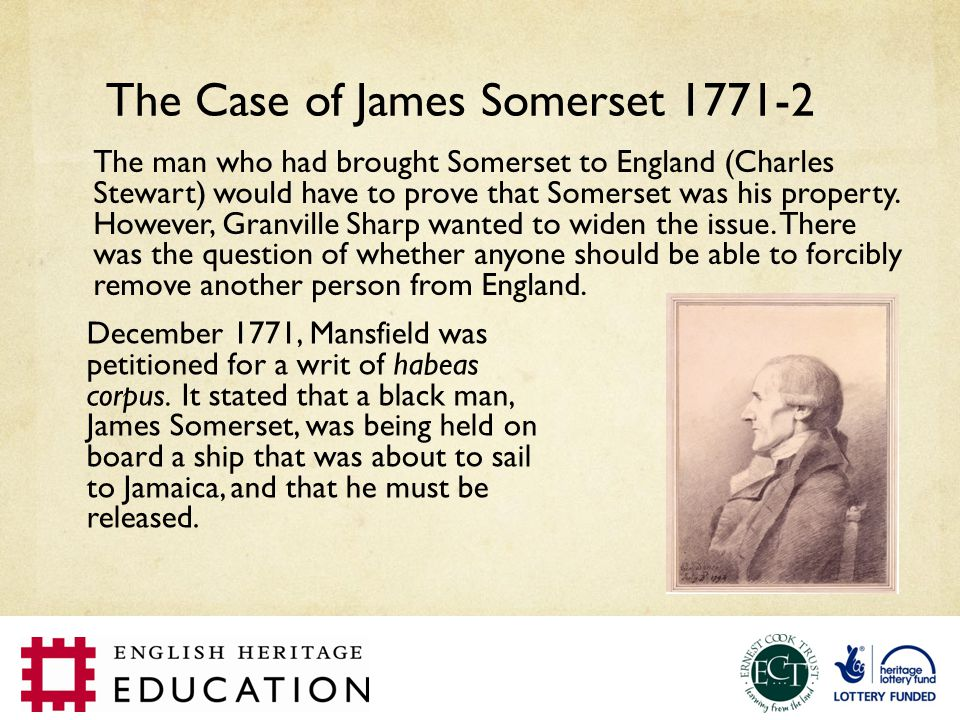 The Case of James Somerset 1771-2