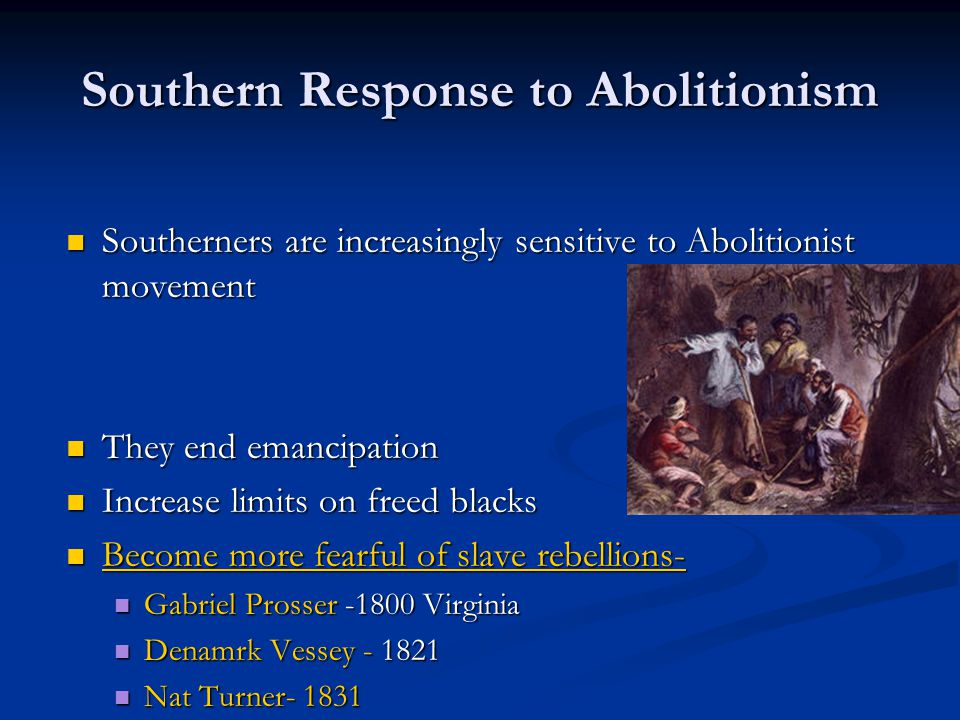 Southern Response to Abolitionism