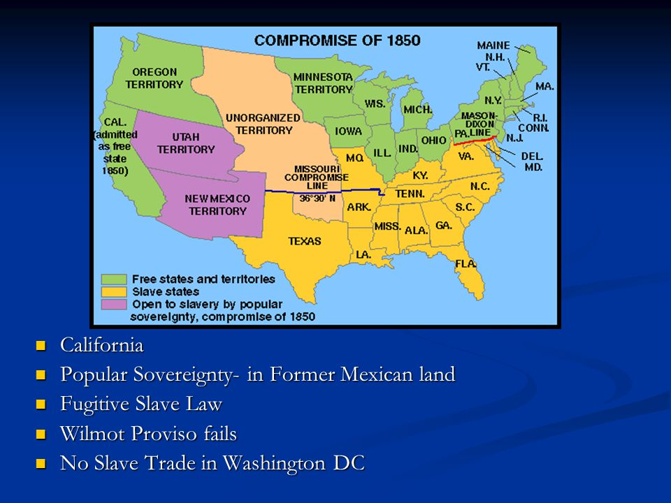 map California Popular Sovereignty- in Former Mexican land