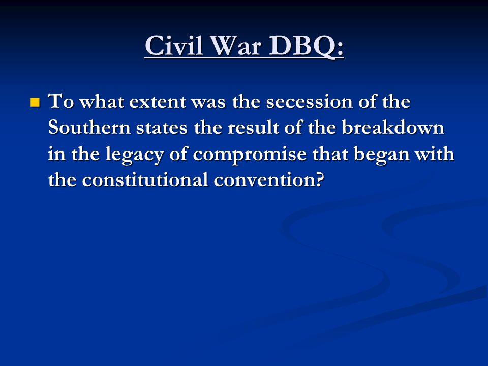 Civil War DBQ: