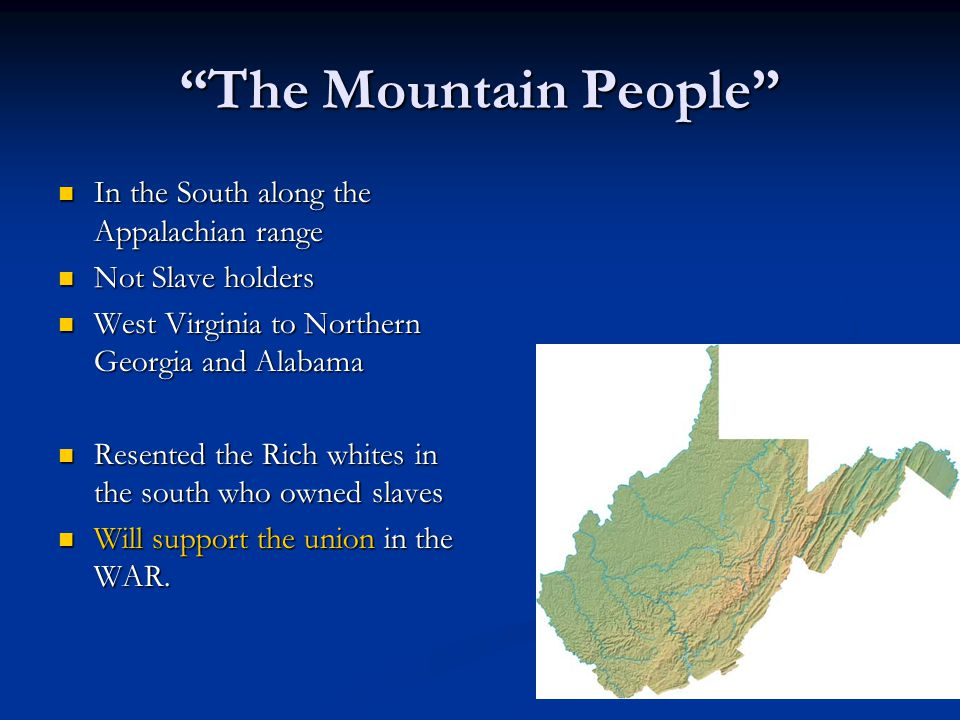 The Mountain People In the South along the Appalachian range