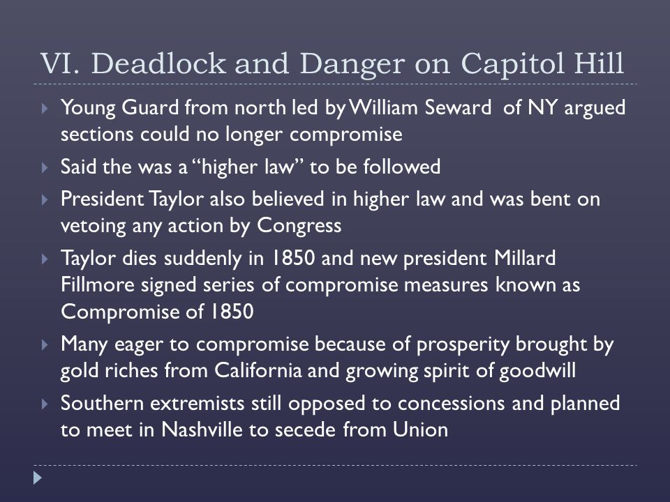 VI. Deadlock and Danger on Capitol Hill