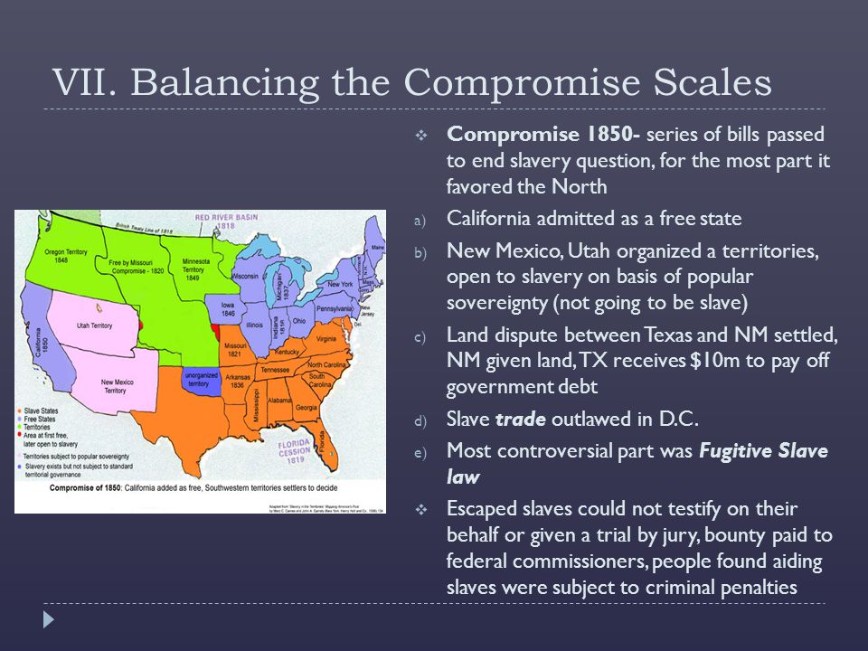 VII. Balancing the Compromise Scales