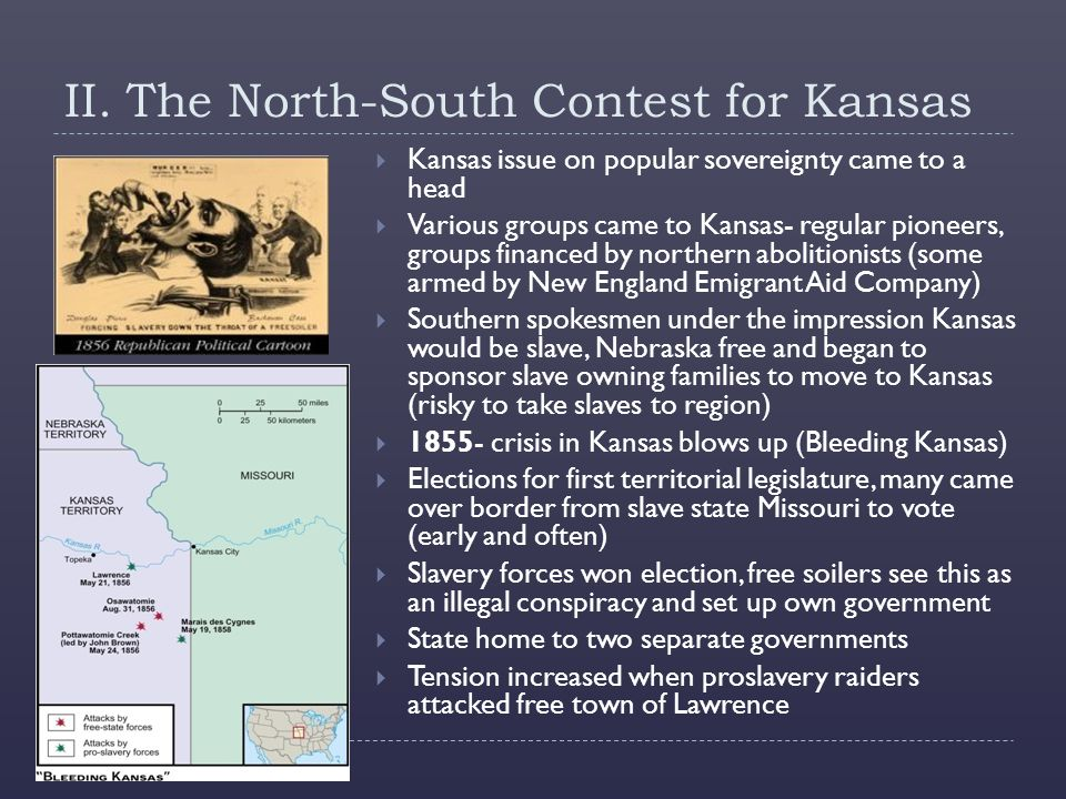 II. The North-South Contest for Kansas
