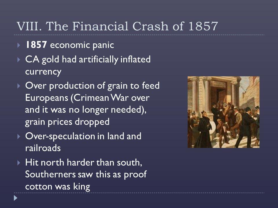 VIII. The Financial Crash of 1857