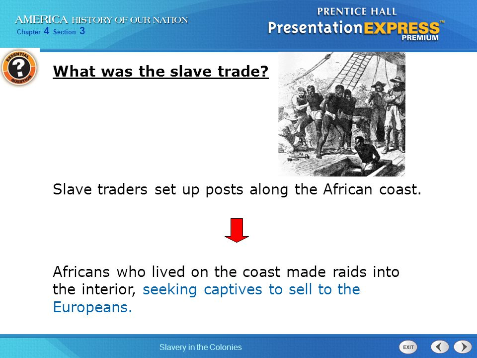 What was the slave trade