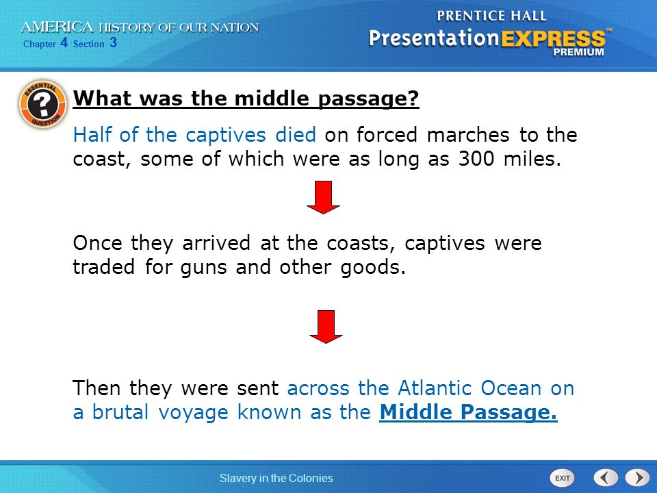 What was the middle passage