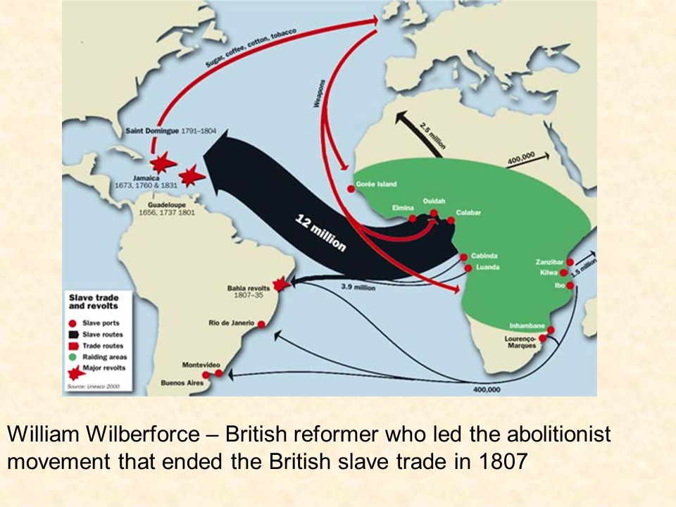William Wilberforce – British reformer who led the abolitionist movement that ended the British slave trade in 1807