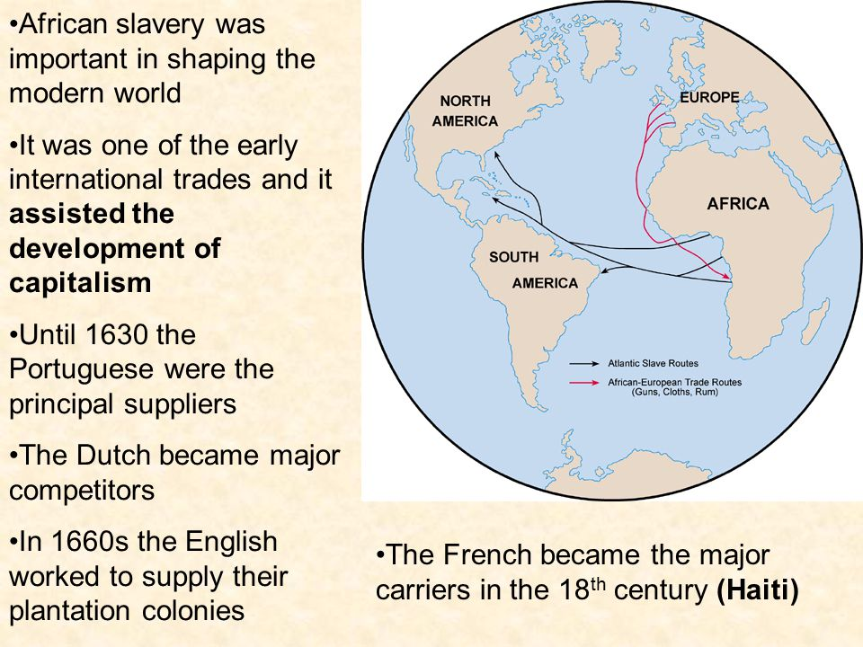 African slavery was important in shaping the modern world