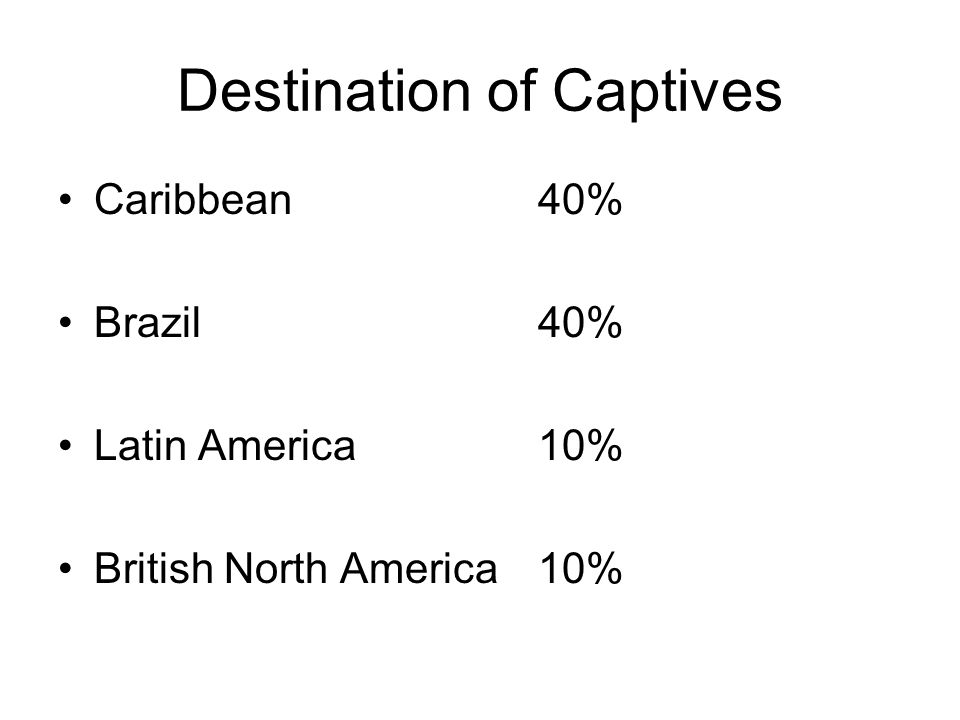 Destination of Captives