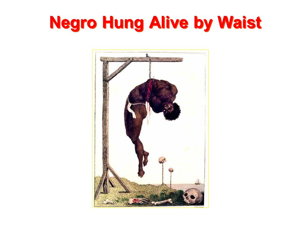 Negro Hung Alive by Waist