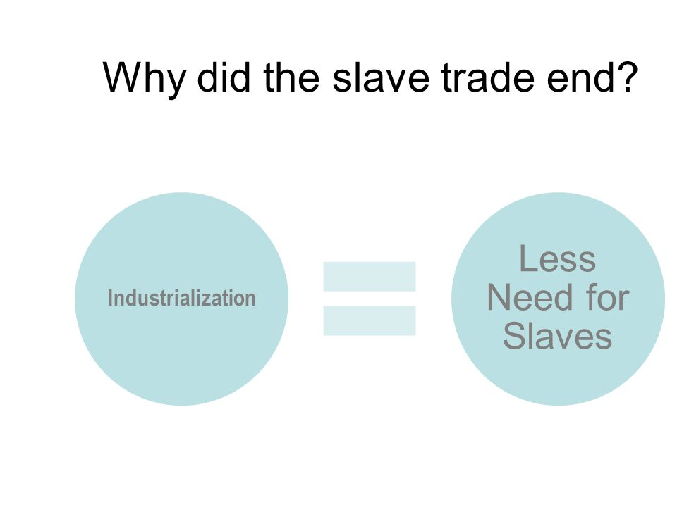Why did the slave trade end