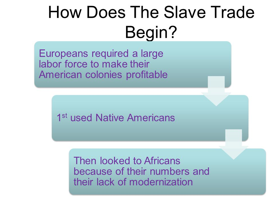 How Does The Slave Trade Begin