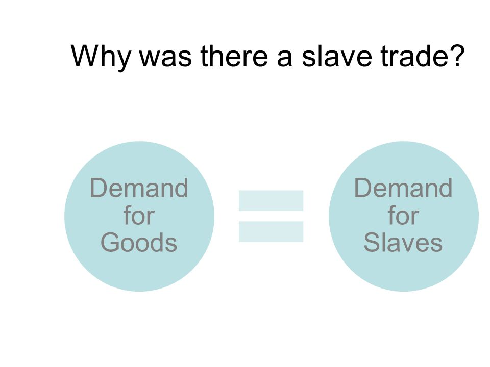 Why was there a slave trade
