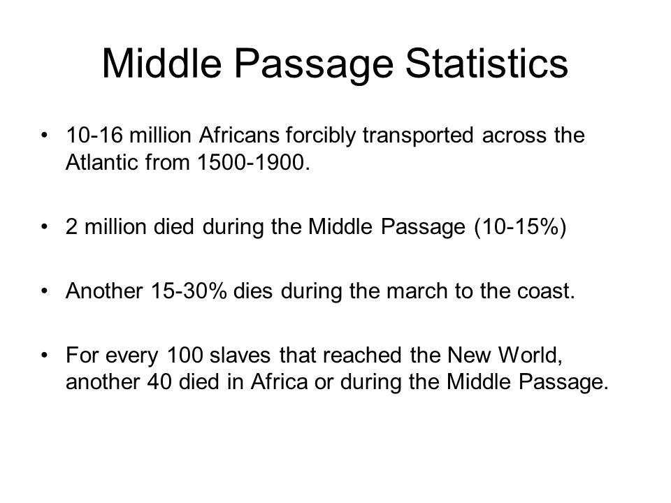 Middle Passage Statistics
